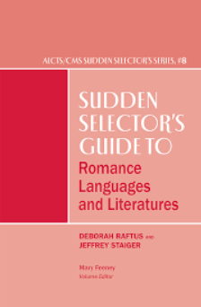 cover of the Sudden Selector's Guide to Romance Languages and Literatures